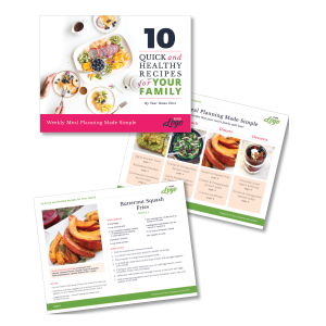 photoshop template for meal planning and recipe card version 2