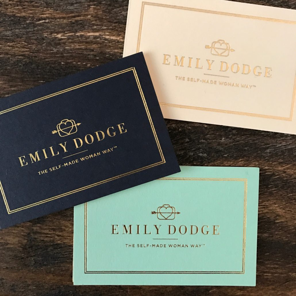 Emily Dodge Business Card Collage
