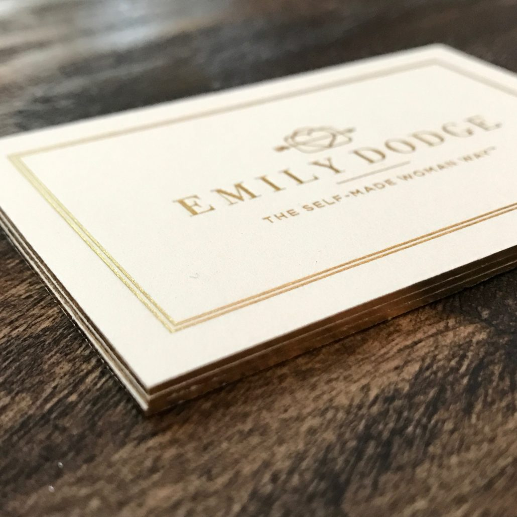 Emily Dodge Business Card Cream