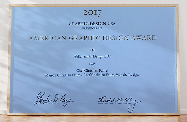 GD USA Award 2017, Maison Christian Faure