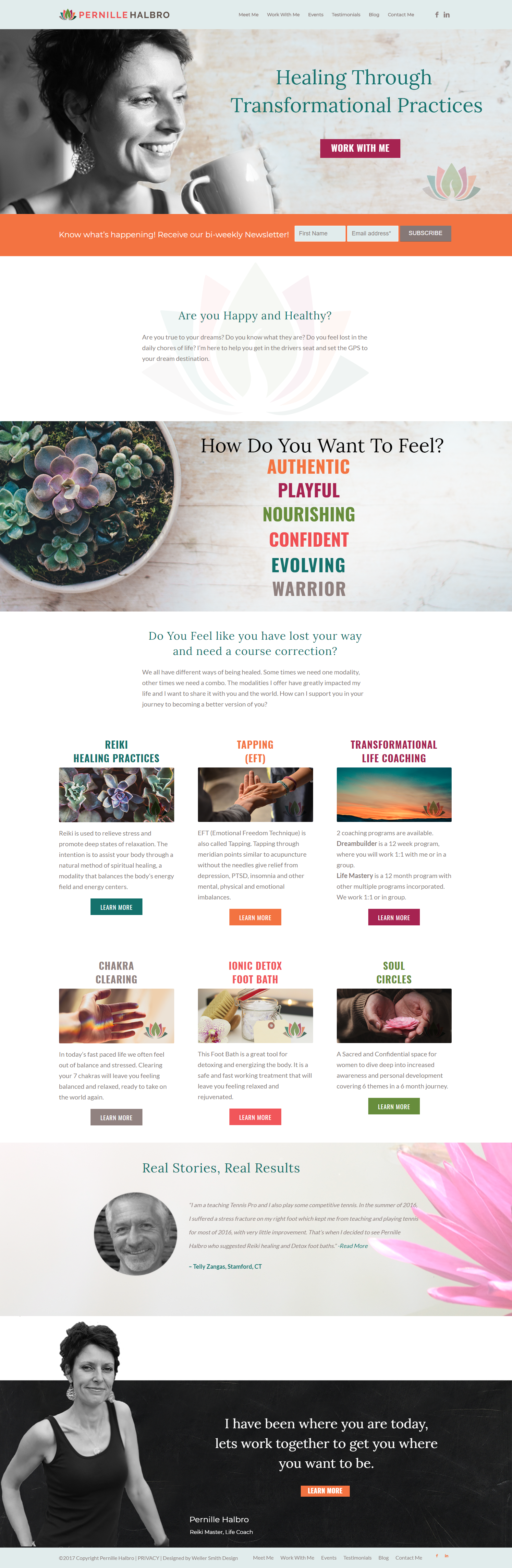 Pernille Halbro Wellness Coach Branding and Website Home Page