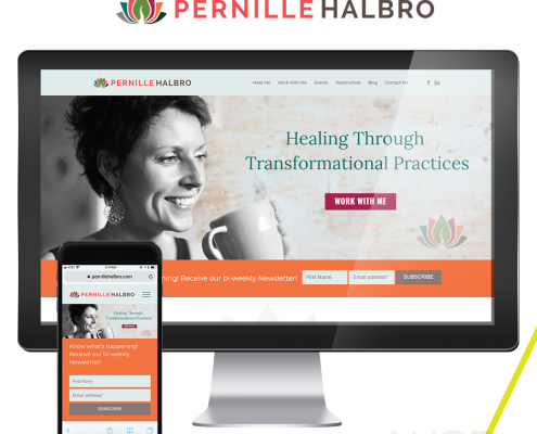 Pernille Halbro Wellness Coach Branding and Website Design