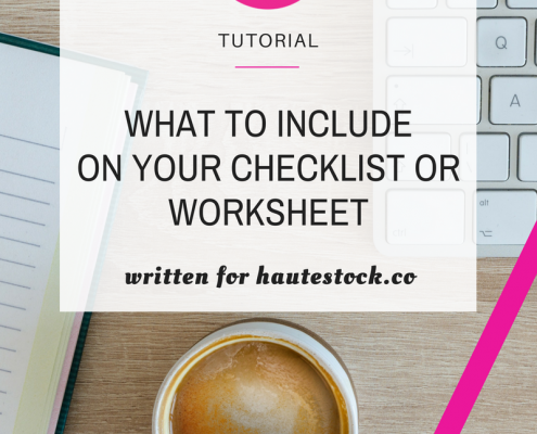 Canva Tutorial on What to Include on Your Checklist or Worksheet