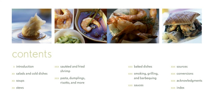Simply Shrimp Stewart Tabori and Chang Comtents