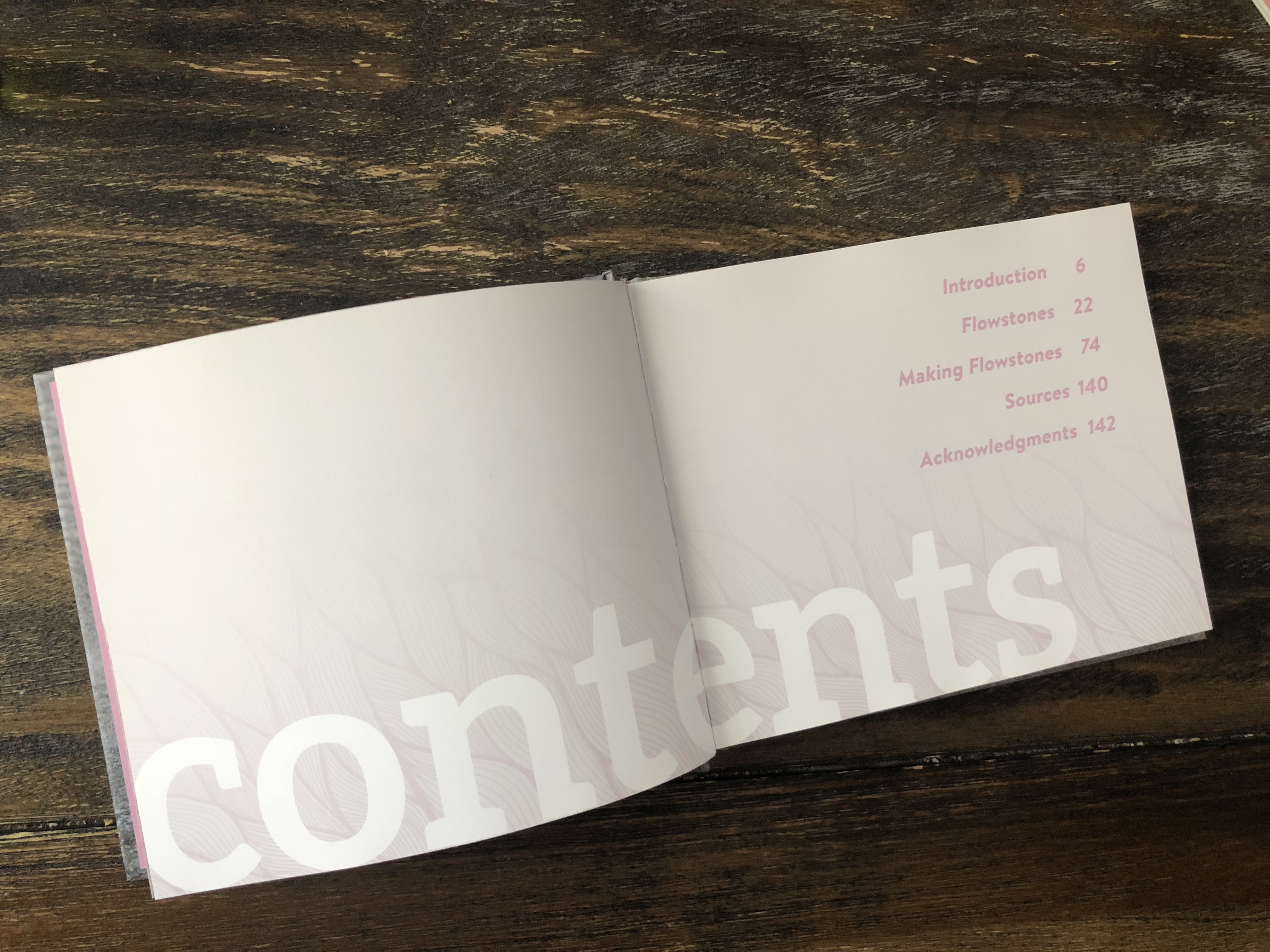 Flowstones Contents Page
