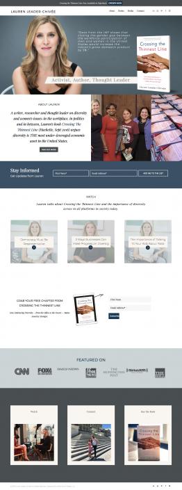 Lauren Leader Homepage Design