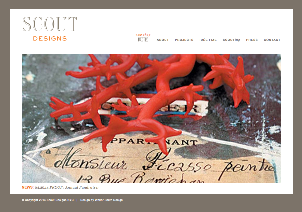 Scout Designs NYC Home Page