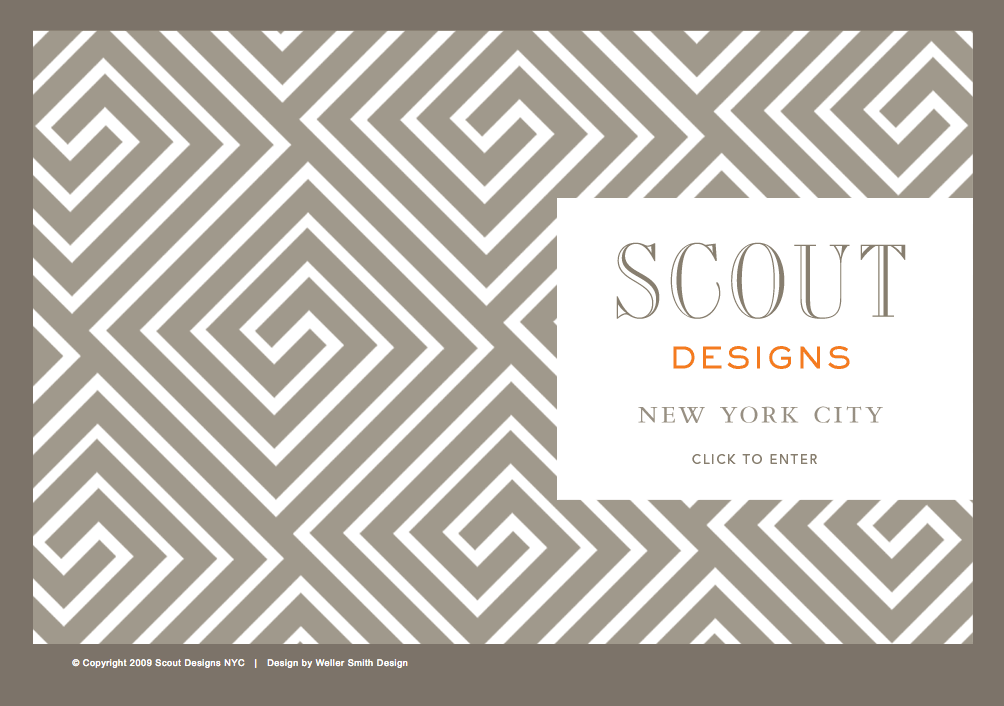 Scout Designs NYC Landing Page