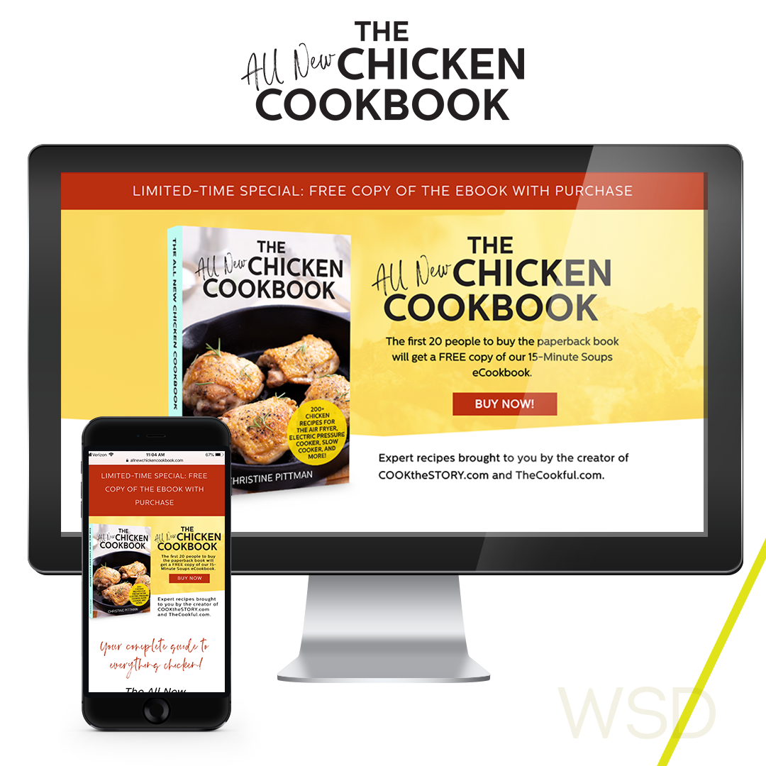 All New Chicken Cookbook Sales Page
