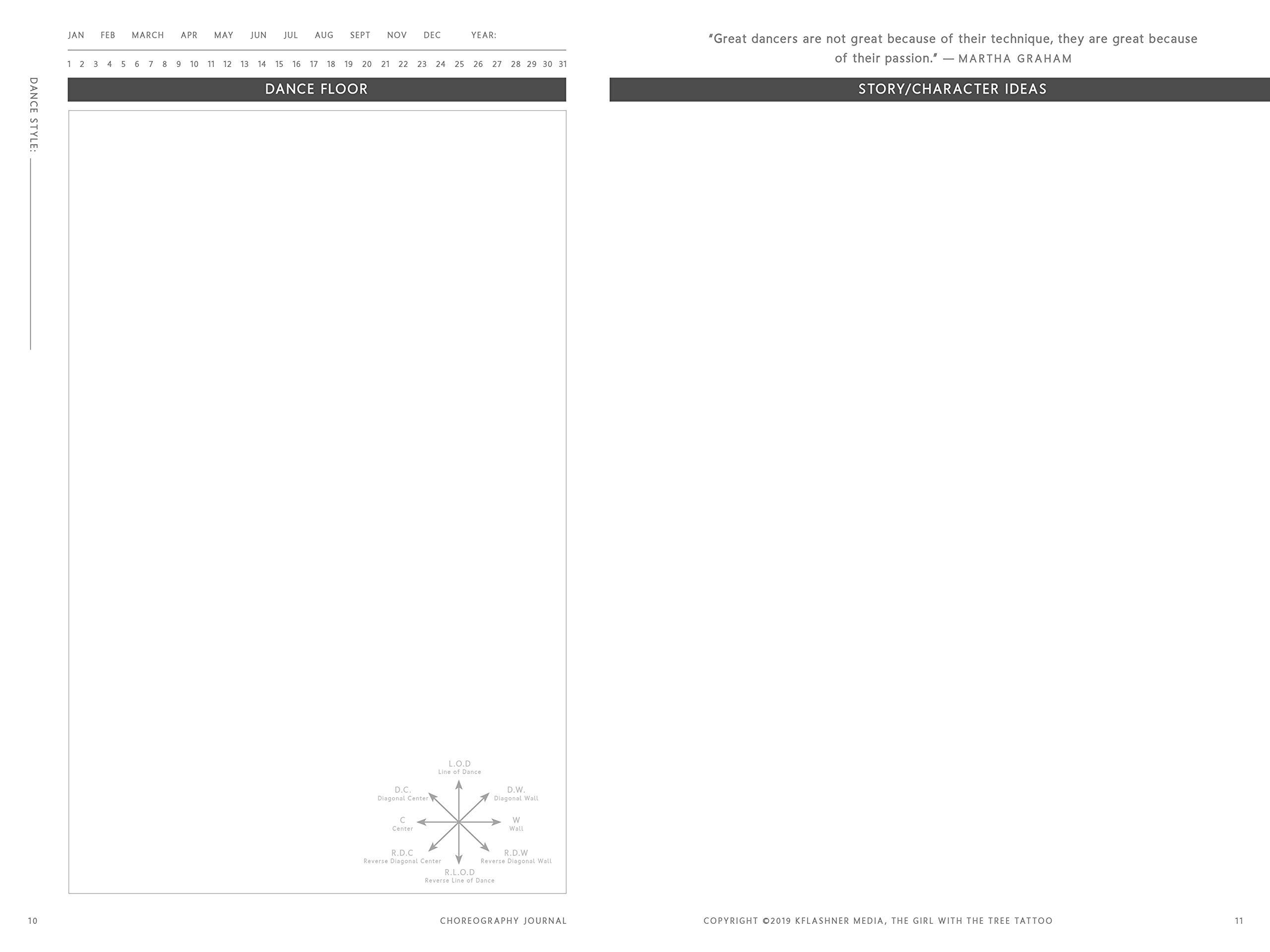 Choreography Journal Interior